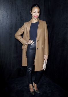 4. Zoe Saldana At The Miu Miu Fall/Winter 2013 Paris Fashion Week Show | The Most Fab Or Drab Celebrity Outfits Of The Week