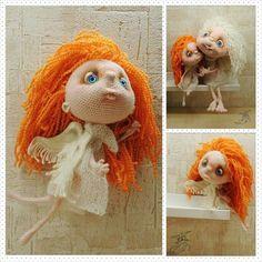 """Ангел Зу и ангел Шу! Автор Per4ik. #amigurumi #weamiguru #knitting #cute #handmade #angel #toys #doll #амигуруми #вязание #ангел #ручнаяработа #игрушки…"""