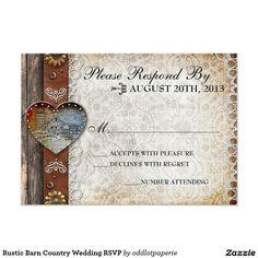 Rustic Barn Country Wedding RSVP