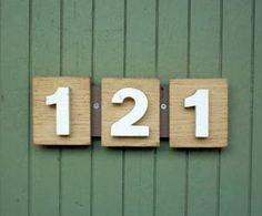 house number idea – plain and simple house number idea – plain and simple Mid Century Art, Mid Century House, Mid Century Design, Midcentury House Numbers, Address Numbers, Address Signs, Weekend Crafts, Ranch Style Homes, Modern Exterior