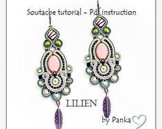 Soutache earrings. Sale 50 % TUTORIAL ONLY Hand