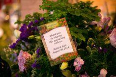 Wedding favour# seeds# organic# natural# centrepiece# Fern# orchid# purple# green