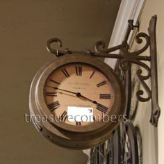 dual sided train station wall clock great in open plan kitchen space