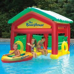 Pool Boat House Float Shade Water Raft Inflatable Buoy Ring Fun Kids Toy New #Swimline