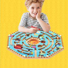 מכירה ישירה במפעל מבוך מגנטי סדרת משחקים אינטלקטואליים בתחילת פיתוח צעצועים חינוכיים לגיל רך ילדים חידוש
