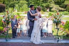 August Wedding by Derek Halkett Photography in Wellesley, MA at The Gardens at Elm Bank. This photograph taken in the Italianate Garden