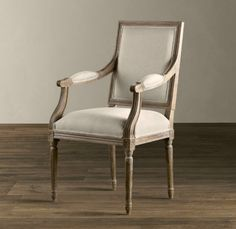 Vintage French Square Upholstered Armchair - traditional - dining chairs and benches - Restoration Hardware