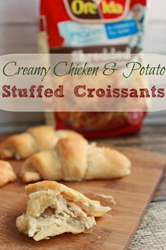 Chicken and Potato Stuffed Croissants Recipe with Ore Ida Hashbrowns #OreIdaHashbrn #shop #cbias