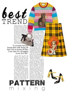 """""""Best Trend of 2016-Pattern Mixing-Gucci"""" by marion-fashionista-diva-miller ❤ liked on Polyvore featuring Gucci, gucci, patternmixing and besttrend2016"""