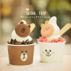 Brown & Cony Soft Cream แพความมงมงแรงงง 너무귀여워 by songsweetsong