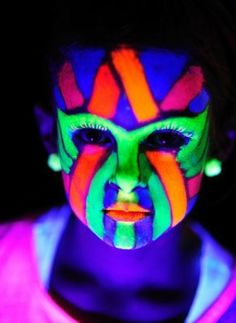 Glowing face paint