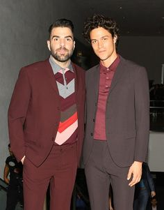 """Miles McMillan and Zachary Quinto at the HAMMER MUSEUM GALA IN THE GARDEN HONORING AVA DUVERNAY AND HILTON ALS  SPONSORED BY BOTTEGA VENETA  """
