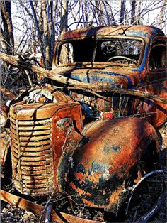 old abandon truck