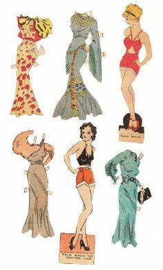 The Paper Collector: Tillie the Toiler paper dolls, c. Newspaper Paper, Vintage Newspaper, Comic Book Paper, Paper Dolls Printable, Paper People, Art Folder, Origami, Vintage Ephemera, Vintage Art
