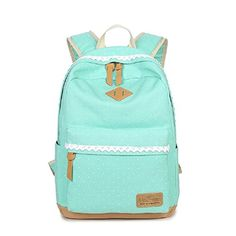 ace6a3ed94 Leisure bag School bag Canvas bag Backpack for woman Printed canvas backpack  Light-green Cute