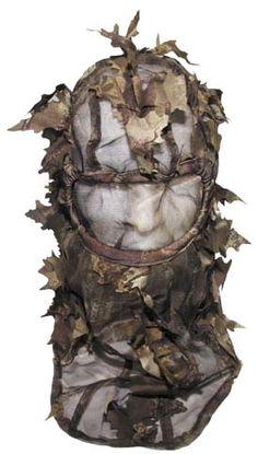 Dark leaves 3D camo balaclava