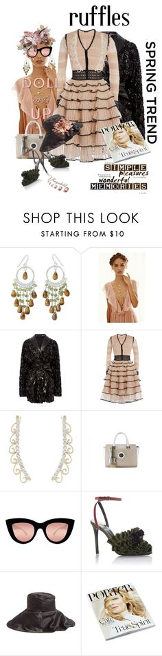 """""""Ruffles for Spring 2016"""" by ragnh-mjos ❤ liked on Polyvore featuring NOVICA, Forever 21, Rodarte, Alexander McQueen, Quay, Marco de Vincenzo and Paskal"""