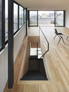 Schody do garażu? /House in Miyake / Hidetaka Nakahara Architects + Yoshio Ohno Architects Japanese Architecture, Space Architecture, Architecture Details, Arch Interior, Interior And Exterior, Boho Home, House Extensions, Home And Deco, Minimalist Home