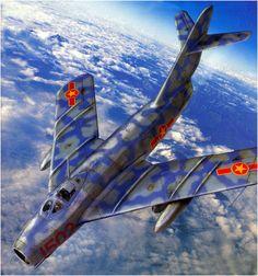 MiG-17 North Vietnamese Air Force Airplane Fighter, Airplane Art, Fighter Aircraft, Fighter Jets, Air Vietnam, Vietnam War, Suwon, Russian Military Aircraft, War Thunder
