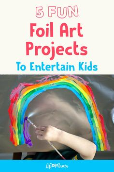 Looking for a fun new art material for kids? Try tin foil! When you're out of construction paper, head to the kitchen and pull this inexpensive and fun roll out for some extra fun foil art projects for kids. Whether you have only tin foil or tin foil and Preschool Art, Toddler Preschool, Toddler Crafts, Preschool Activities, Toddler Themes, Easy Crafts For Kids, Projects For Kids, Diy For Kids, Art Projects