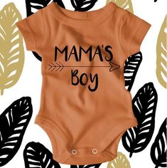 Mamas Boy Baby Shirt - Mamas Boy Shirt - Mommy and Me Shirt - Hipster Baby Outfit - Hipster Baby clothes - Newborn Onesie Boy Celebrate Mothers Day with this adorable Mamas Boy bodysuit. Available in a variety of colors, its the perfect way to show off yo #babyclothing