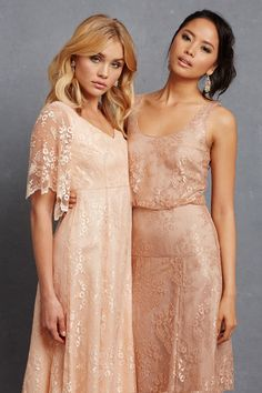 Matchy-matchy bridesmaids might be falling out of favor among brides—lots of brides are content to choose a color and let their friends each pick a dress, matchy-ness be damned. And still, your bridesmaids might prefer to just buy a specific dress that you've picked out, for several reasons: (1) They don't have time (or the desire) to spend searching for the perfect shade of Burnished Unicorn's Breath Lavender to coordinate with your carefully selected color palette. And (2) They want you to…