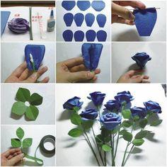 Paper roses tutorila