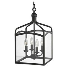 "$169  10-1/4""w x 18-3/4""hPreston Square Lantern Pendant Entryway Light | 873-78 | Destination Lighting"