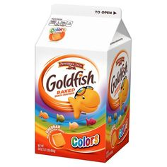 Goldfish® Colors Cheddar Made with Whole Grain - Pepperidge Farm Fish Snacks, Junk Food Snacks, No Bake Snacks, Fruit Snacks, Cereal Recipes, Snack Recipes, Goldfish Crackers, Goldfish Food, Pepperidge Farm Goldfish