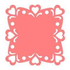 Here's another Valentine decorative square. Great for cards and decorating scrapbook pages.    To download this svg file (in zip format) click on the image or on the link below.    ValentineLaceSquare2.zip