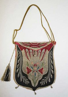 French silk purse, late 18th century.