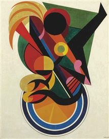 Artwork by Auguste Herbin, Composition inspirée par la danse, Made of oil on canvas