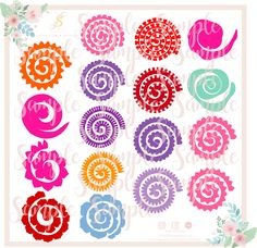 Free Diy 3d Flower Svg And Other Cut Files Flowers 3 Rolled