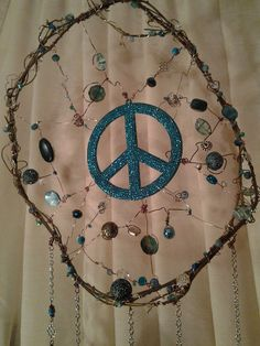 Sparkling Blue Peace Dream Catcher by CherylwoodForest on Etsy
