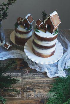 Christmas Gingerbread House Cake