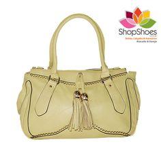 BOLSA DE MAO - JULIE HENRI (CARAMELO / AMARELO PASTEL)  www.shopshoes.com.br