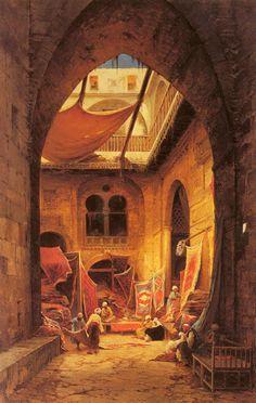 Hermann David Salomon Corrodi, Arab Carpet Merchants http://www.pinterest.com/patricianez/orientalismo/