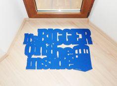 Dr. Who door mat. It's bigger on the inside floor mat by Xatara