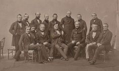The official portrait of the participants in the 1856 Paris Congress which put an end to the Crimean War. Crimean War, The Siege, Tsar Nicholas, Kingdom Of Great Britain, French Empire, Imperial Russia, Many Men, Ottoman Empire, Warm Outfits