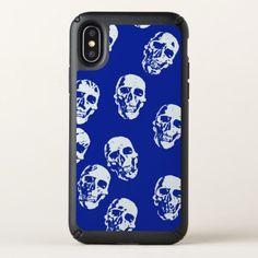 trendy skulls speck iPhone x case - Halloween happyhalloween festival party holiday