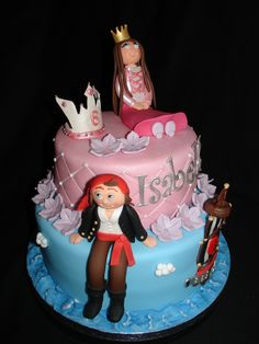 starting point for a pirates and princess cake