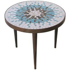 Small Mid Century Mosaic Table By Luberto