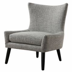 Sullivan Grey Linen Upholstered Chair - Overstock™ Shopping - Great Deals on Living Room Chairs