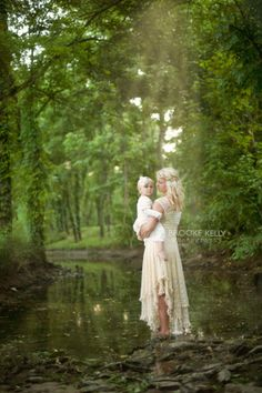 Mother/daughter creek session {Brooke Kelly Photography}