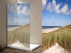Artikelnummer:AI-6011 Name: Glasdekor Dusche, Ostsee Druck auf Glasdekorfolie in Sandstrahloptik