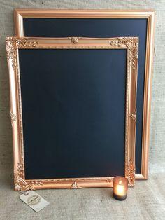 Large COPPER / ROSE GOLD Chalk Board - Copper Blackboard / Framed Chalk Board…