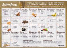 Cafe Latté Shakeology Recipe Calendar is here!! WOOHOO!  Order today  MyShakeology.com/FearlessVixen  Fearless Vixen Fitness