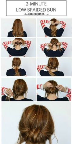 Two-Minute Low Braided Bun