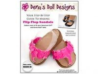 American Girl Doll Shoes Pattern - Flip Flop Sandals | Liberty Jane Doll Clothes Patterns For American Girl Dolls