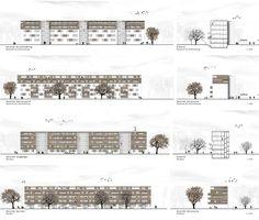 1. Preis: Ansichten: Aufstockung Bestand + Neubau, © dürschinger architekten